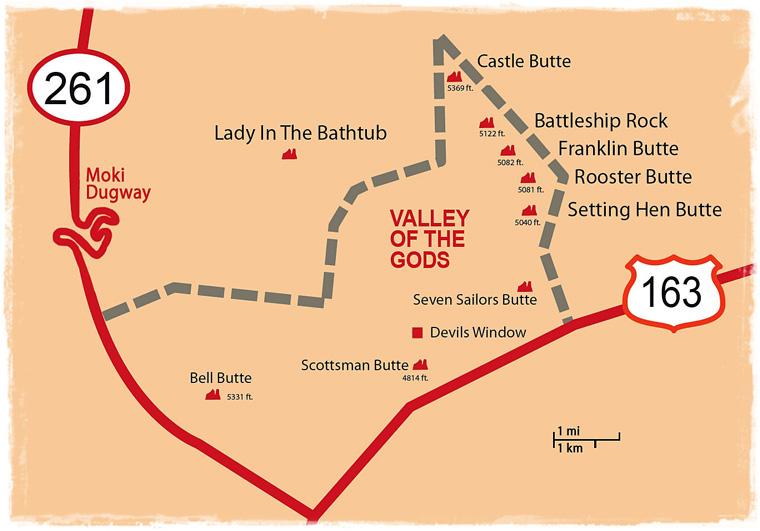 Valley of the Gods - бесплатная версия Долины Монументов